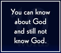 The Good Knowledge of God!
