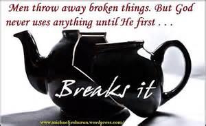 breaks it