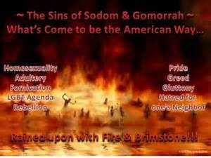God destroyed sodom and gomorrah because of homosexuality