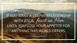 feast on Jesus