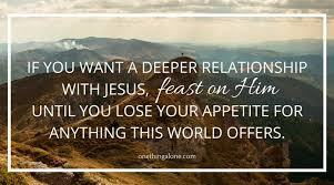 feast on Jesus