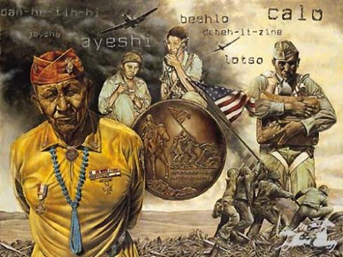 navajo flag raising