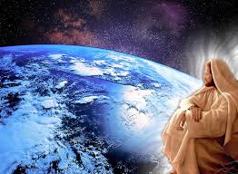 Jesus over earth