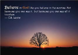 faith believe sunrise