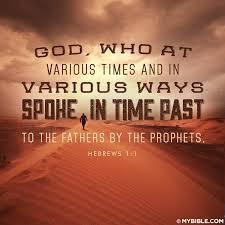 prophecy speaks through prophets