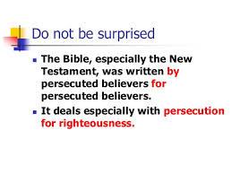 persecution surprise