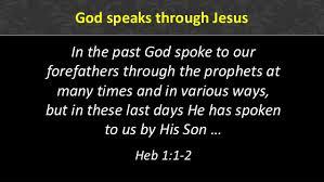 God speaks through Jesus