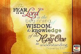 wisdom fear of the Lord