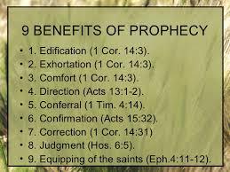 prophecy benifits