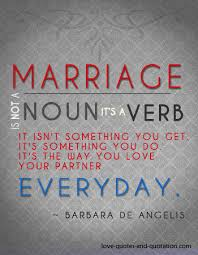 marriage verb