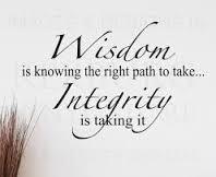 wisdom integrity