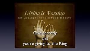 give secretly