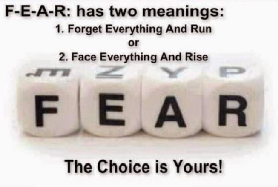 fear face everything