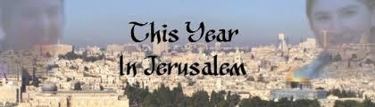 This year Jerusalem