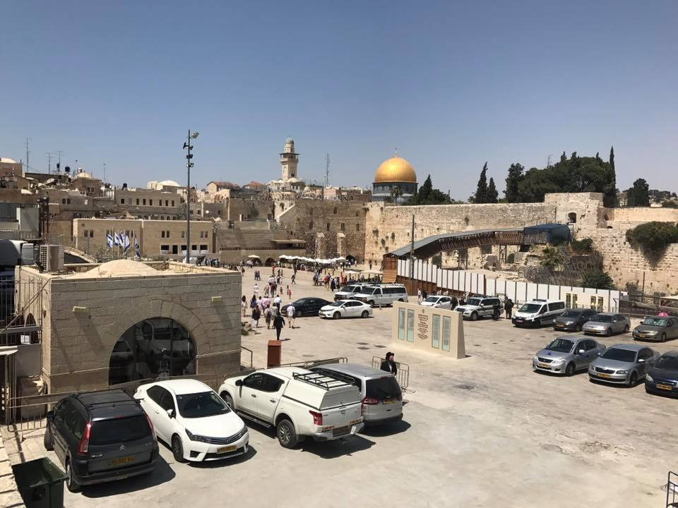 Western wall view